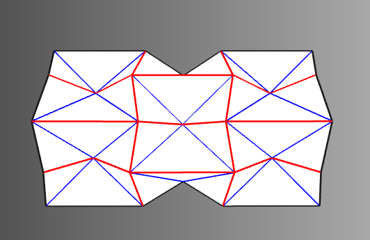 Left Folded State Of 4x6 Waterbomb Crease Pattern Right Fold The 12x14 Into A Tube By Reusing Folding Motion Found On